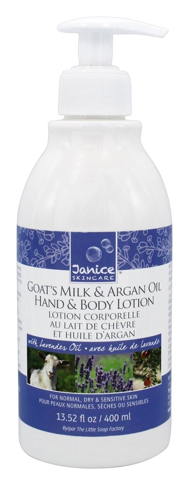 Janice Skincare - Goat's Milk & Argan Oil Hand & Body Lotion with Lavender Oil - 13.52 oz.