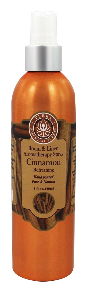 Terra Essential Scents - Room and Linen Aromatherapy Spray Cinnamon - 8 oz.