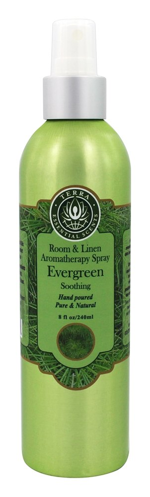 Terra Essential Scents - Room and Linen Aromatherapy Spray Evergreen - 8 oz.