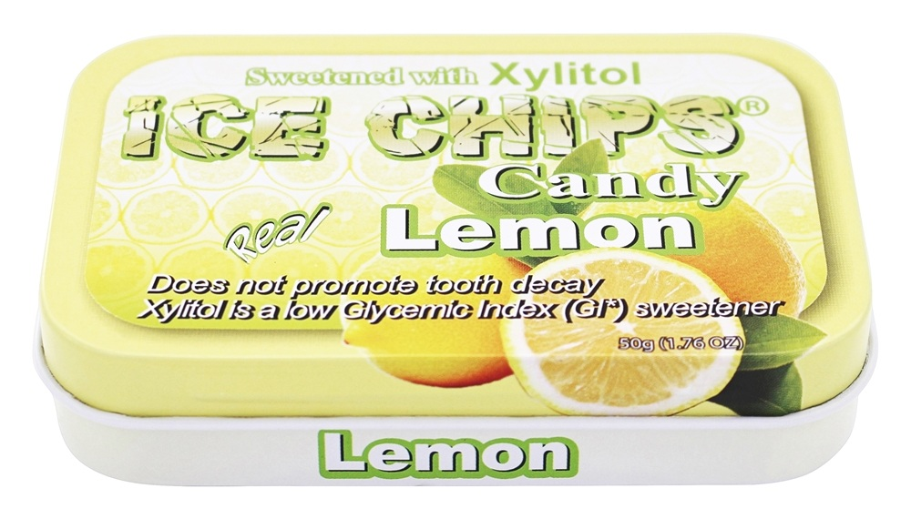 Ice Chips - Xylitol Mints Real Lemon - 1.76 oz.