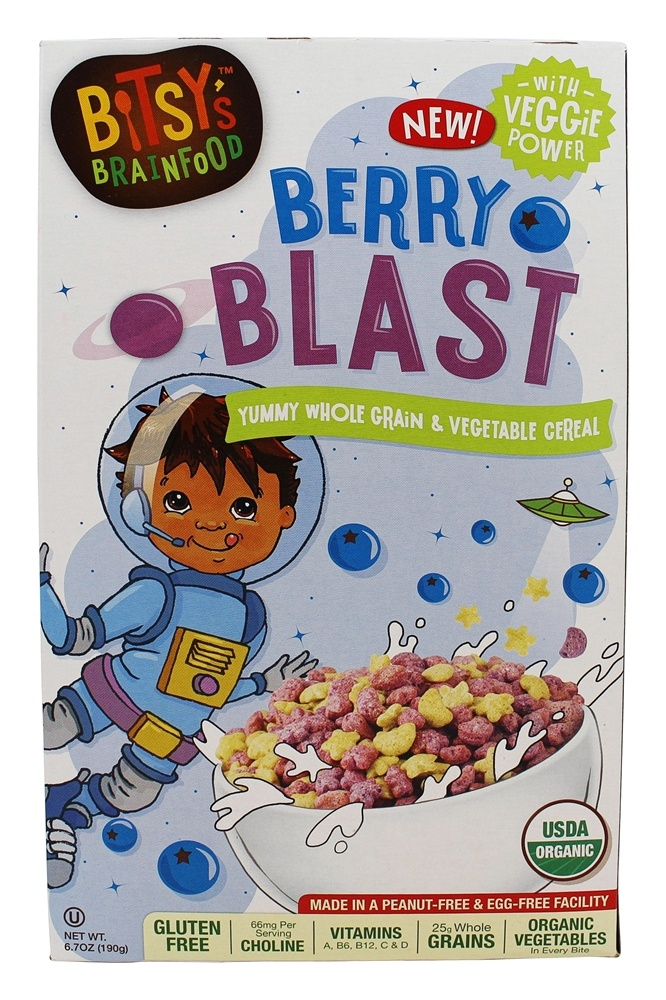 Bitsy's Brainfood - Berry Blast Cereal Green Berry Blast - 6.7 oz.
