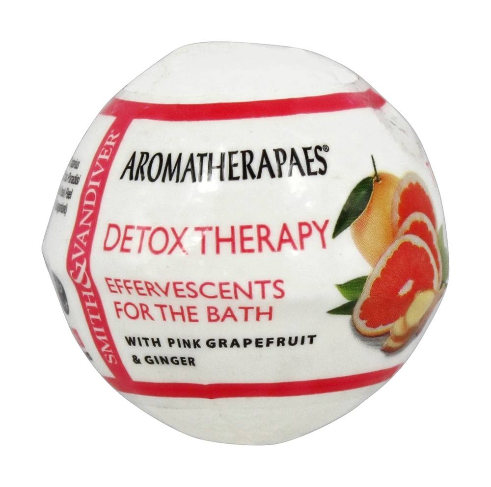 Aromatherapaes - Effervescents For The Bath Detox Therapy Pink Grapefruit & Ginger - 2.8 oz.