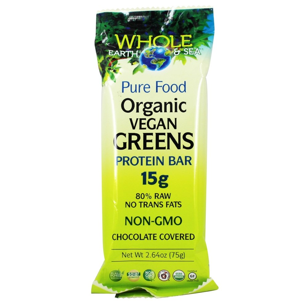 Whole Earth & Sea - Organic Vegan Greens Protein Bar - 2.64 oz.