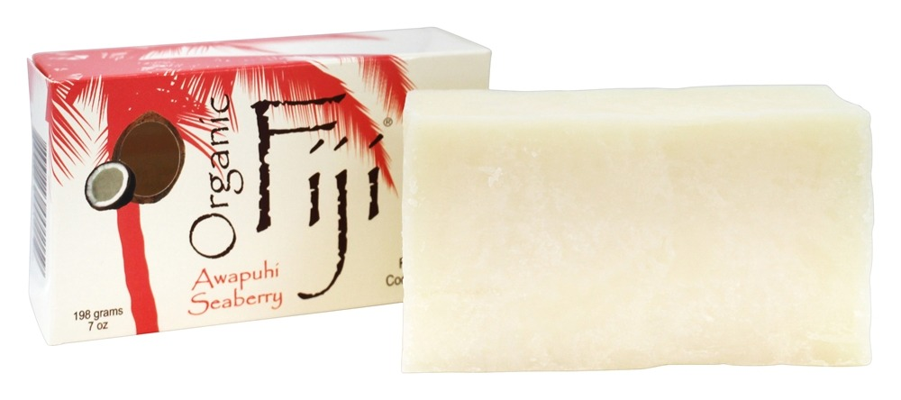 Organic Fiji - Organic Face and Body Coconut Oil Bar Soap Awapuhi Seaberry - 7 oz.