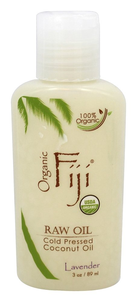 Organic Fiji - Organic Cold Pressed Coconut Oil Lavender - 3 oz.