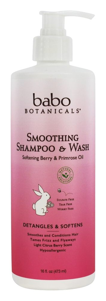 Babo Botanicals - Smoothing Shampoo & Wash Berry Primose - 16 oz.