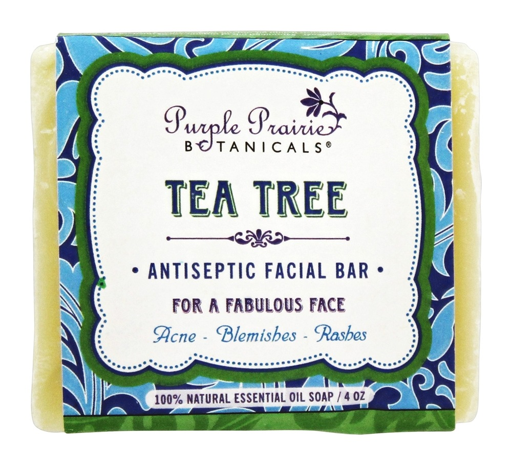 Purple Prairie Botanicals - Antiseptic Facial Bar Soap Tea Tree - 4 oz.