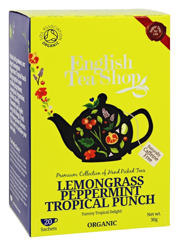 English Tea Shop - Organic Tea Lemongrass Peppermint Tropical Punch - 20 Sachet(s)