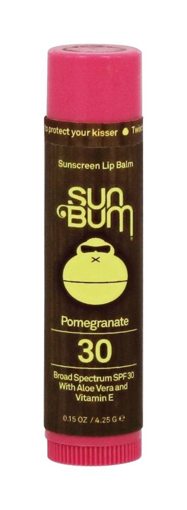 Sun Bum - Sunscreen Lip Balm Pomegranate 30 SPF - 0.15 oz.