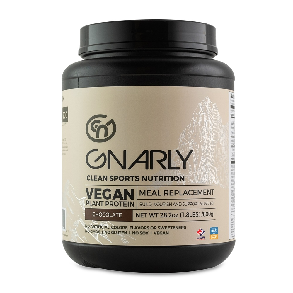 Gnarly Nutrition - Vegan Meal Replacement Powder Chiseled Chocolate - 32 oz.