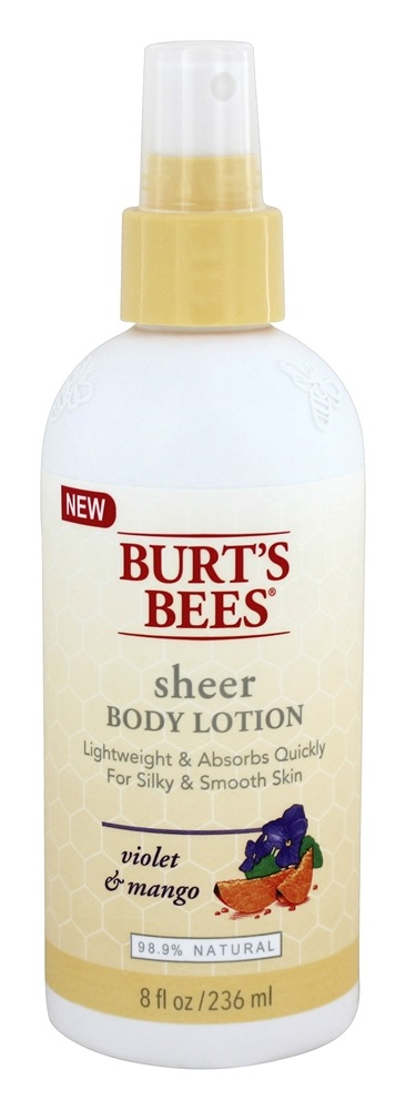 Burt's Bees - Sheer Body Lotion Violet & Mango - 8 oz.