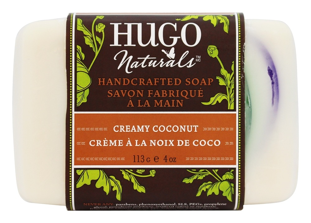 Hugo Naturals - Handcrafted Bar Soap Creamy Coconut - 4 oz.