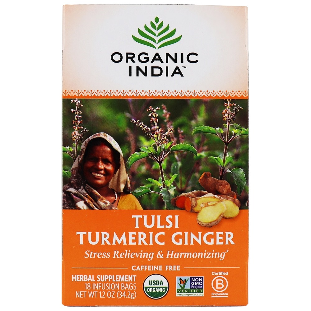 Organic India - Tulsi Tea Turmeric Ginger - 18 Tea Bags