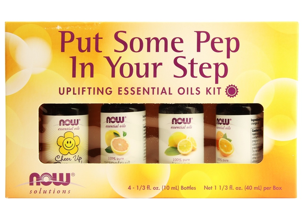 NOW Foods - Put Some Pep in Your Step Uplifting Essential Oils Kit - 4 Bottle(s)