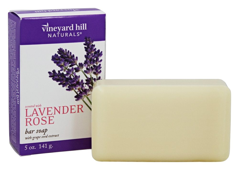 Vineyard Hill Naturals - Bar Soap with Grape Seed Extract Lavender Rose - 5 oz.
