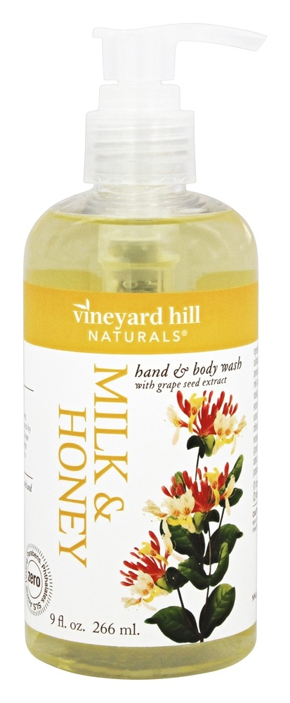 Vineyard Hill Naturals - Hand & Body Wash with Grape Seed Extract Milk & Honey - 9 oz.
