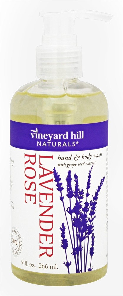 Vineyard Hill Naturals - Hand & Body Wash with Grape Seed Extract Lavender Rose - 9 oz.