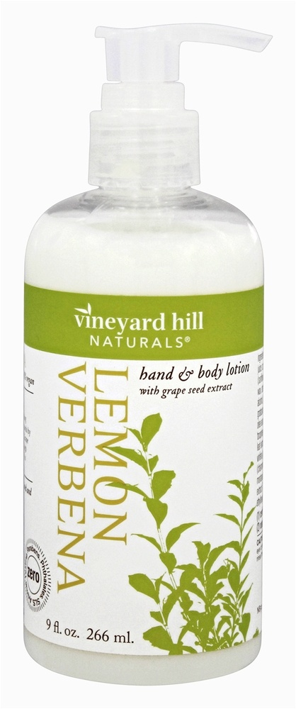 Vineyard Hill Naturals - Hand & Body Lotion with Grape Seed Extract Lemon Verbena - 9 oz.