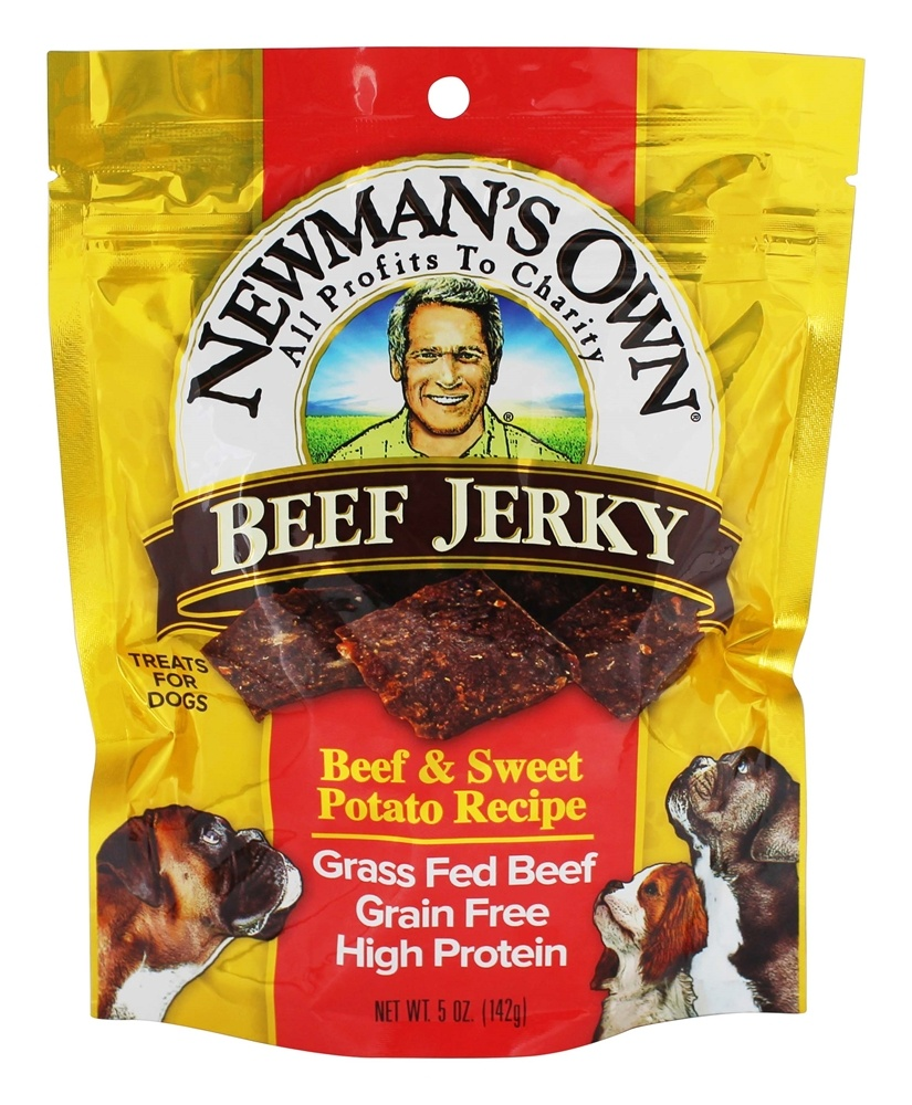 Newman's Own Organics - Beef Jerky Dog Treats Beef and Sweet Potato Recipe - 5 oz.