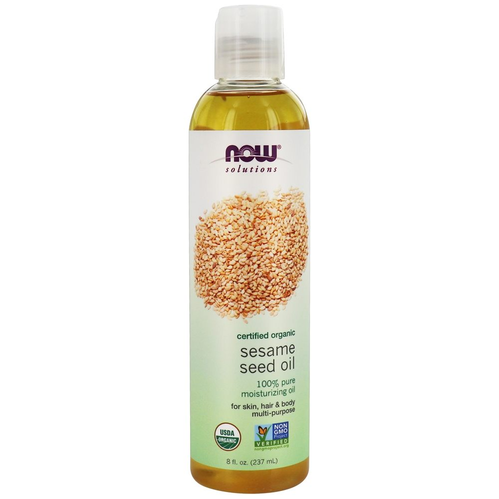 NOW Foods - Organic Sesame Seed Oil - 8 oz.