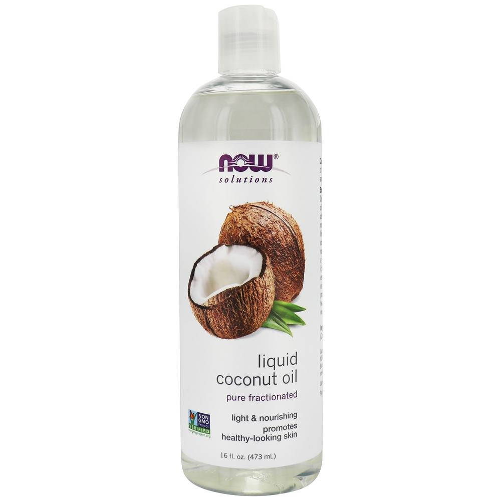 NOW Foods - Pure Fractionated Liquid Coconut Oil - 16 oz.
