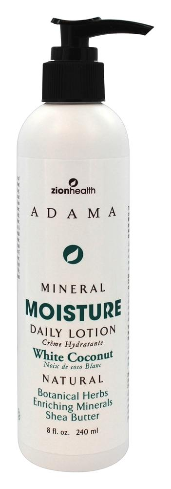 Zion Health - Adama Minerals Moisture Intense Daily Lotion White Coconut - 8 oz.