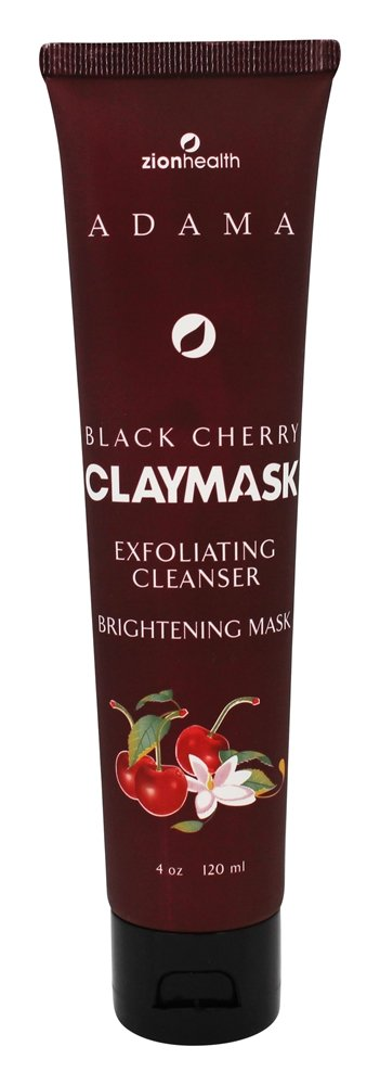Zion Health - Adama Brightening Clay Face Mask Black Cherry - 4 oz.