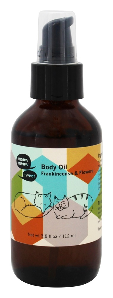 Meow Meow Tweet - Body Oil Frankincense & Flowers - 3.8 oz.