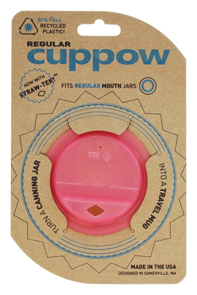 Cuppow - Canning Jar Drinking Lid Regular Mouth Pink