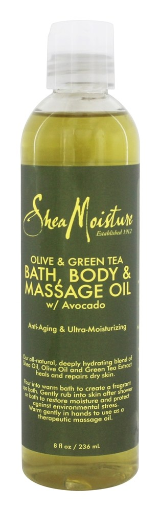 Shea Moisture - Olive & Green Tea Bath, Body & Massage Oil - 8 oz.