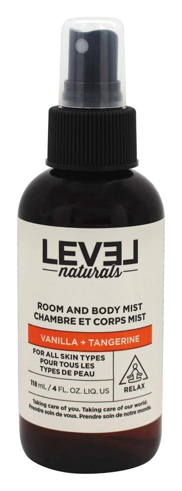 Level Naturals - Room and Body Mist Vanilla + Tangerine - 4 oz.