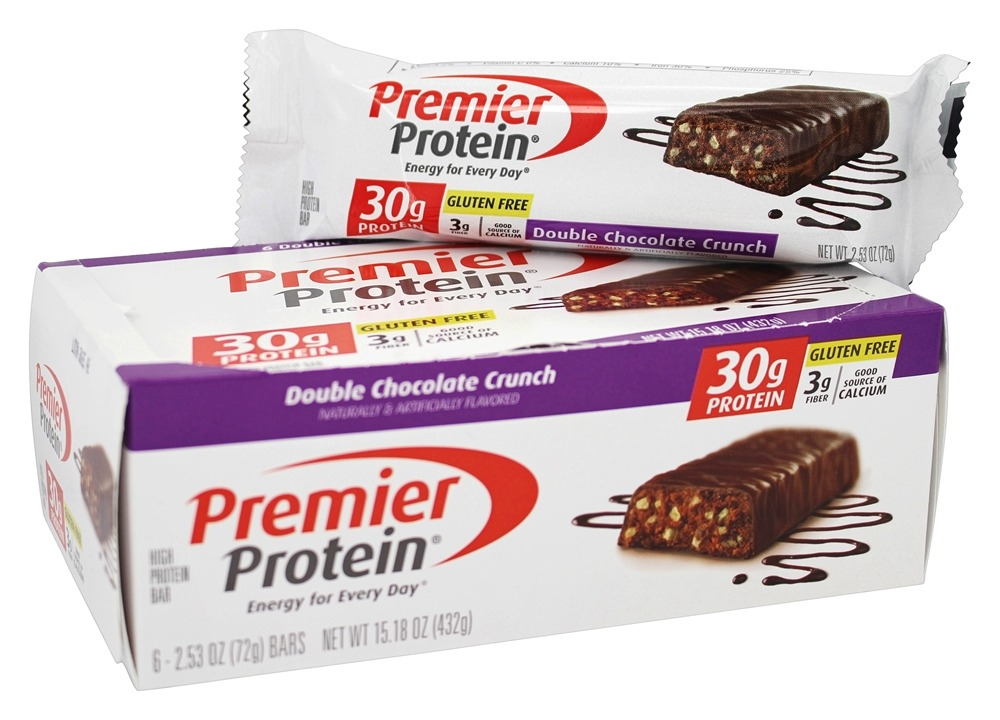 Premier Protein - High Protein Bar Double Chocolate Crunch - 6 Bars