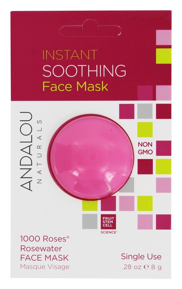 Andalou Naturals - Instant Soothing Face Mask 1000 Roses Rosewater - 0.28 oz.