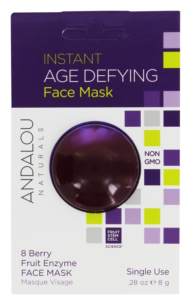 Andalou Naturals - Instant Age Defying Face Mask 8 Berry Fruit Enzyme - 0.28 oz.