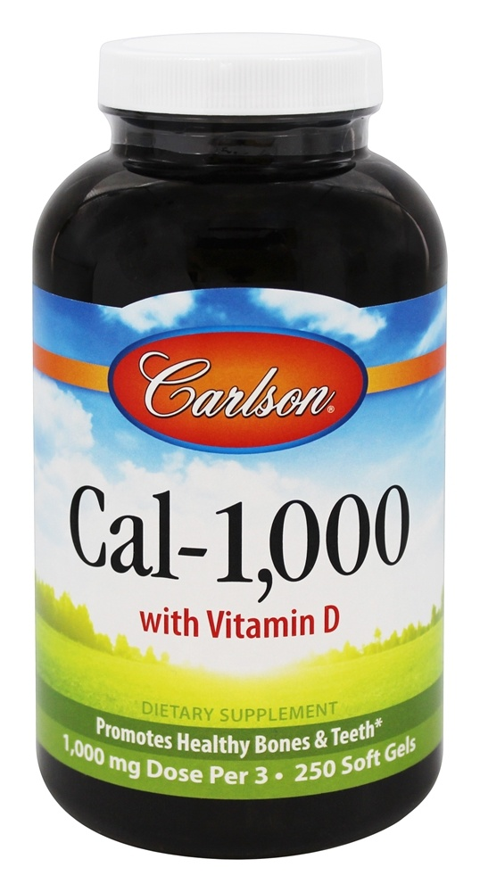 Carlson Labs - Cal-1000 with Vitamin D - 250 Softgels