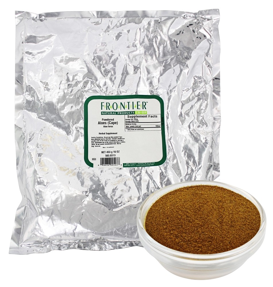 Frontier Natural Products - Powdered Aloes (Capes) - 1 lb.
