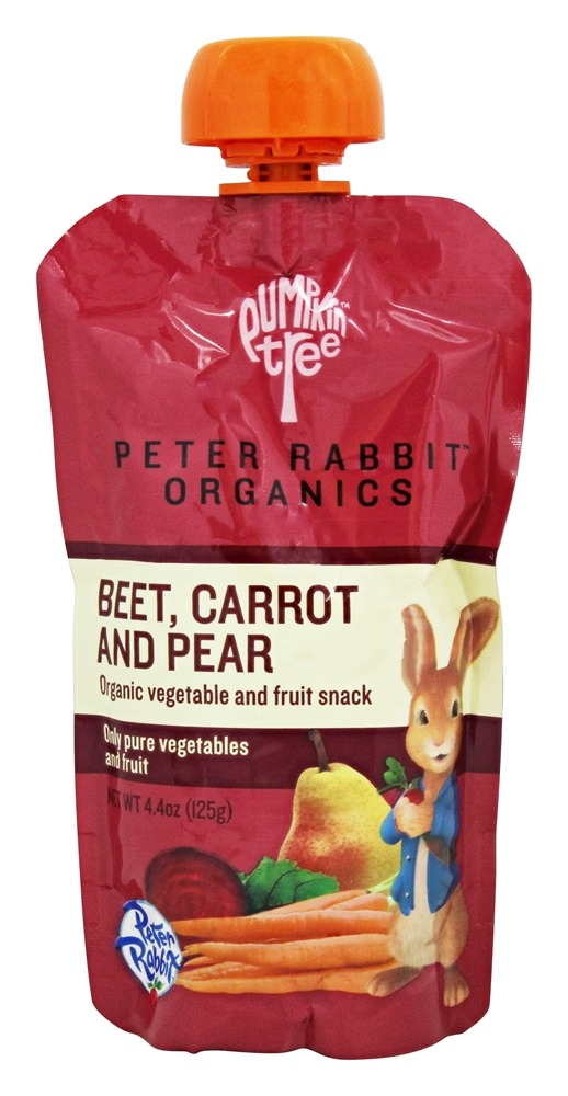 Peter Rabbit Organics - Organic Vegetable and Fruit Snack Beet, Carrot, and Pear - 4.4 oz.