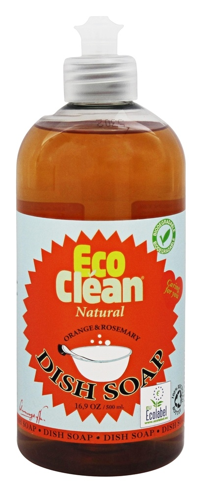 Eco Clean - Natural Dish Soap Orange and Rosemary - 16.9 oz.