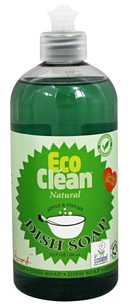 Eco Clean - Natural Dish Soap Apple and Thyme - 16.9 oz.