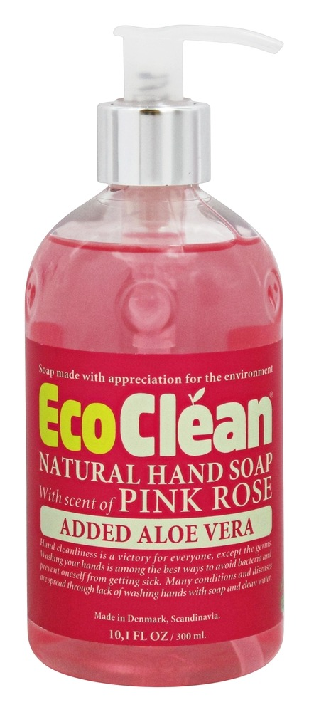 Eco Clean - Natural Hand Soap with Added Aloe Vera Pink Rose - 10.1 oz.