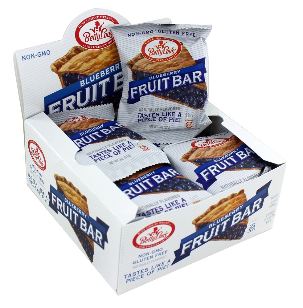 Betty Lou's - Fruit Bars Box Gluten Free Blueberry - 12 Bars