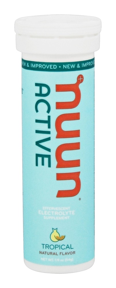 Nuun - Active Effervescent Electrolyte Supplement Tropical - 10 Tablets
