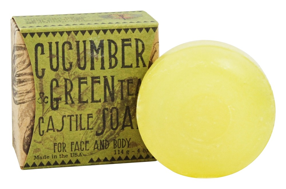 Virginia First Tea Farm - Castile Bar Soap Cucumber & Green Tea - 4 oz.