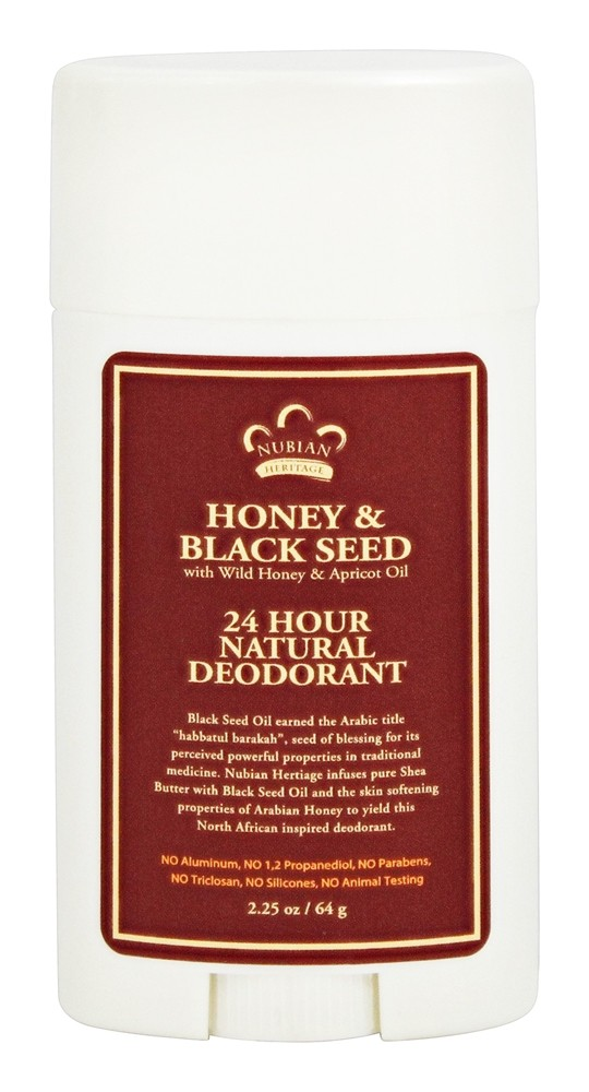 Nubian Heritage - 24 Hour Natural Deodorant Honey & Black Seed - 2.25 oz.