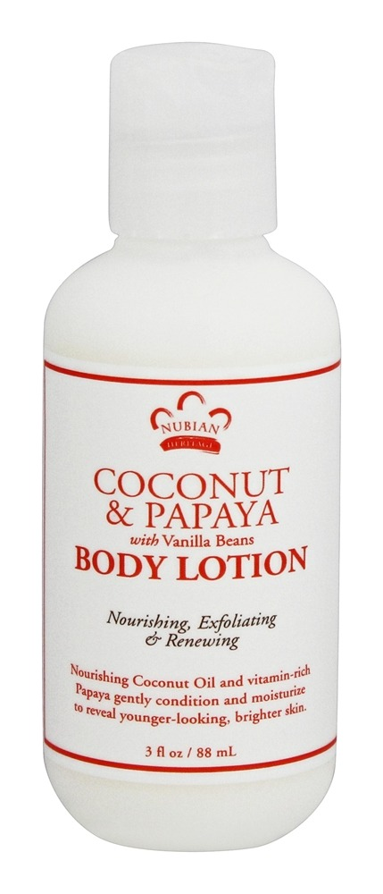 Nubian Heritage - Body Lotion Coconut & Papaya - 3 oz.
