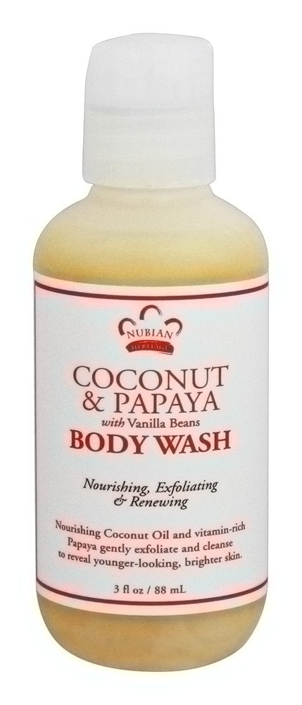 Nubian Heritage - Body Wash Coconut & Papaya - 3 oz.
