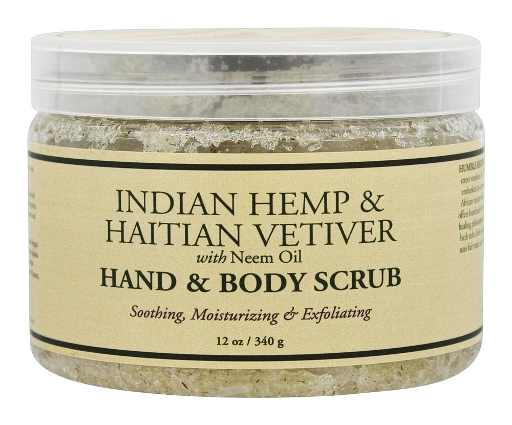 Nubian Heritage - Hand & Body Scrub Indian Hemp & Haitian Vetiver - 12 oz.