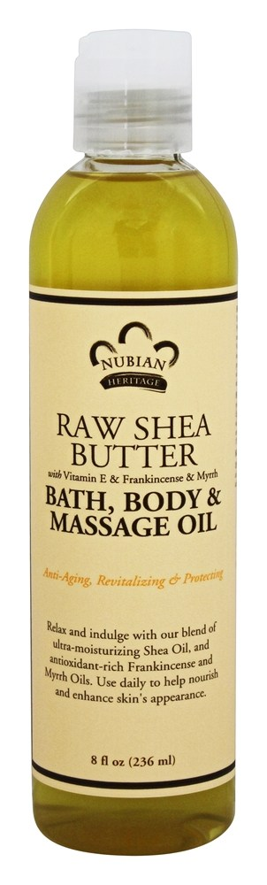 Nubian Heritage - Bath, Body & Massage Oil Raw Shea Butter - 8 oz.