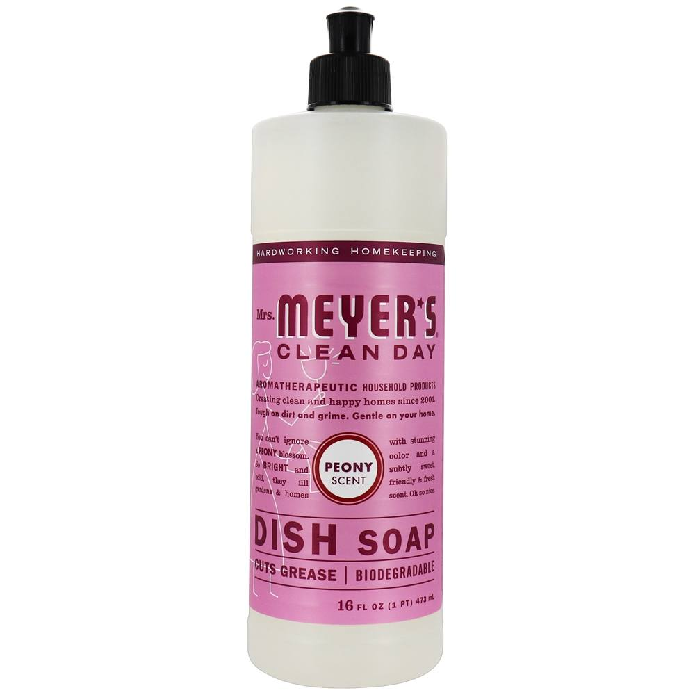 Mrs. Meyer's - Clean Day Liquid Dish Soap Peony - 16 oz.