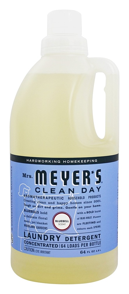 Mrs. Meyer's - Clean Day Laundry Detergent Concentrated 64 Loads Bluebell - 64 oz.